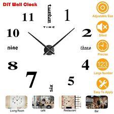 DIY Wall Clock Big Watch 3D Acrylic Art Stickers Decals Modern Home Office Decor