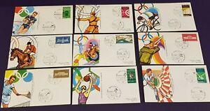 Olimpiadi Monaco 1972 Lotto 100 Annulli Speciali - tutti gli sport