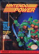1989 Nintendo Power Magazine NES Teenage Mutant Ninja Turtles TMNT High Grade