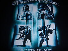 2010 licensed THREE DAYS GRACE t shirt - LIFE STARTS NOW tour - NEW NWOT - (L)