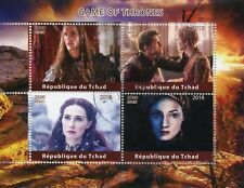 Chad 2018 CTO Game of Thrones Cersei Lannister Sansa Stark 4v M/S Stamps