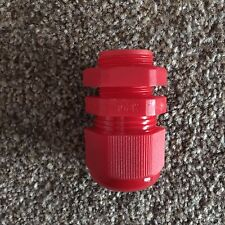 100 x Red 20mm IP68 Nylon Dome Cable Glands & Locknuts