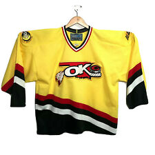 Oklahoma City OKC Blazers Bauer Hockey Jersey - Mens Size XL Vintage Yellow