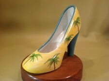 "Anne Omsby Porcelain High Heel Shoe ""Tropical Palm"""