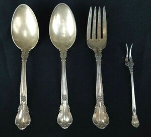 """GORHAM """"Chantilly""""  Serving Spoons & Forks -LOT of 4- 100% Proceeds Charity"""