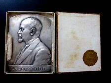 1925 Belgian Silvered Bronze Medal Charles Good By Mauquoy 57mm x 78mm BOX N132