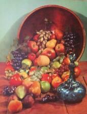 vintage 50s  Old Fashioned Basket of Fruit