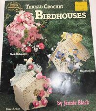 Thread Crochet Birdhouses bird houses spring flowers Easter 1992 crocheting
