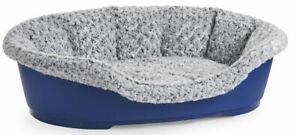 Soft and Snug Dog Bed Insert Grey Black Rose Fur 80cm (407887)