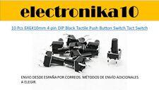 10 pcs  6X6X10mm 4-pin DIP Tactil microswitch interruptor swithch boton  ESPAÑA