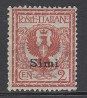 ITALY - Egeo Simi  Sassone 1 SUPER CENTERED cv 130$  MNH**