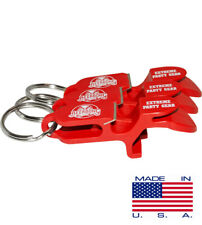 SHOTGUN KEY CHAIN | Beer Bong for Cans | 3-PACK | Red | MADE IN USA