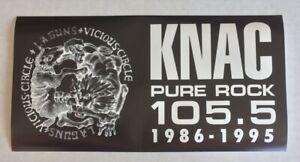 Pure Rock 105.5 KNAC Bumpersticker The Last Sticker LA Guns Tower Records NEW