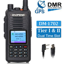 BAOFENG DM-1702 GPS DMR Digital Analog 2-Way Ham Radio Walkie Talkie + USB Cable