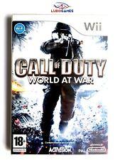 Call of Duty World at War Wii PAL/SPA Precintado Videojuego Nuevo New Sealed