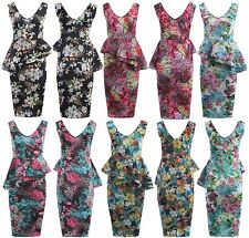 V Neck Stretch, Bodycon Casual Floral Dresses for Women