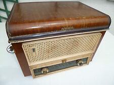 RARE et Ancien POSTE TSF et tourne-disque PHILIPS caisse en bois années 50-60