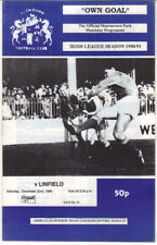 1990/91 Glenavon v Linfield - Irish League - 22nd Dec - Vol 9 No 15