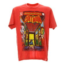 Batman T-Shirt Gr. L Vintage Comic Print Motiv Rot DC Kurzarmshirt