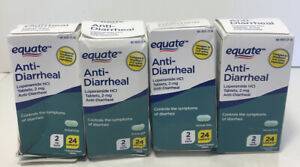 4 Equate Anti Diarrheal 24 Ct Each, Exp 2022+