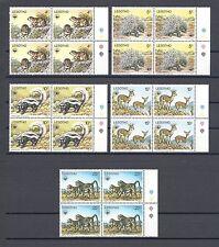LESOTHO 1977 SG 329/33 MNH Blocks of 4 Cat £100