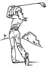 Unmounted Rubber Stamps, Sports Stamp, Golfing, Golf, Lady Golfer on Golf Course