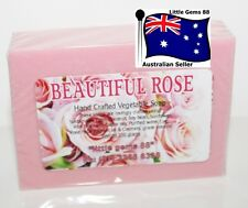 HANDMADE NATURAL SOAP * Beautiful Rose * 100GRAM * Post 4 bars for $8