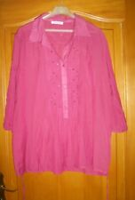 CHEMISIER / BLOUSE  CHRISTINE LAURE  MANCHES 3/4 TAILLE  48/50
