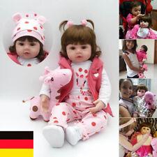 48/60cm reborn Baby Puppe Lebensecht Handgefertigt Weich Silikon-Vinyl Mädchen