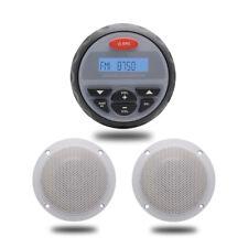 "Herdio 12 V Marine Boat Car Bluetooth AM/FM Radio MP3 Player +4"" box speakers"