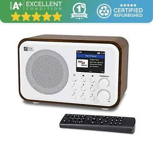 Ocean Digital Internet Radio - Bluetooth - Rechargeable Battery - Walnut WR-336N