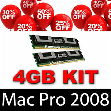 4GB 2X2GB memory for APPLE MAC PRO 8-Core/Quad-Core 2.8,3.0 & 3.2GHz Early 2008