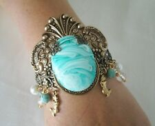 Mermaid Cuff Bracelet, boho bohemian gypsy hippie fantasy ocean nautical beach
