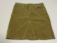 AG Adriano Goldschmied the Mid-Box Skirt Sz 27 Brown Corduroy Above Knee