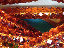 Vtg 100 TOPAZ RONDELLE FACETED SPACER 8X4mm BEADS GREAT ACCENT! #030712b