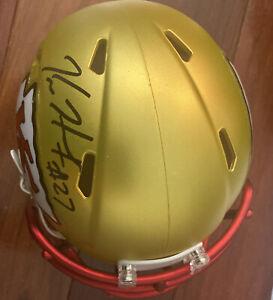 Signed Kareem Hunt Kansas City Chiefs Mini Helmet w/psa Cert blaze