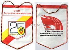 DDR NVA Tisch - Fahne Wimpel Kampfposition ASV, East german flag for table GDR