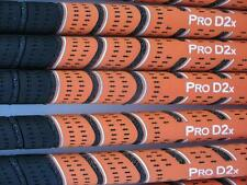 9 AVON ORANGE/BLACK PRO D2X MULTI COMPOUND GOLF GRIPS