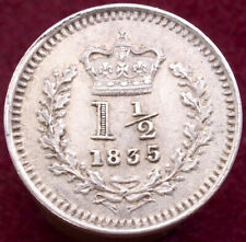 More details for gb three-halfpence 1835 (5 over 4) king william iv (h2804)