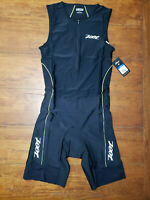 ZOOT Mens X-Large Tri Suit Sleeveless Black Yellow XL Triathlon Swim Cycling Run