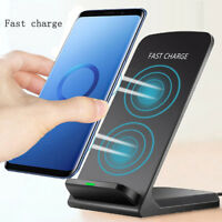 10W Wireless QI Fast Charger Charging Dock Stand Holder For iPhone X Xs Max XR 8