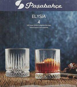 Pasabahce Elysia Trinkgläser  Whisky Glas im  Kristall-Look