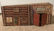 Toy Fort Apache Tin U.S. Cavalry Supply Building (H 1001)
