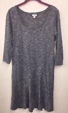 LN Purejill J Jill Heather Blue 3/4 Slv Dress Medium M