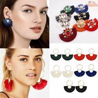 Luxury Women Bohemian Long Tassel Fringe Boho Ear Stud Dangle Earrings Jewelry