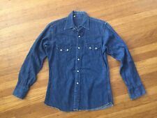 MINT VTg RARE 1960s LVC H Bar C SANFORIZED DENIM WESTERN SAWTOOTH SHIRT M 15 33