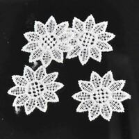 50pcs/lot Sun Flower Lace Applique Mesh Trim For Garment Accessories Decoration