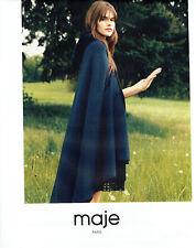 Publicité Advertising 028  2015   Maje  mode pret à porter manteau cape