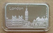 1oz Pure Silver 999  Bar -LONDON BIG BEN (04),