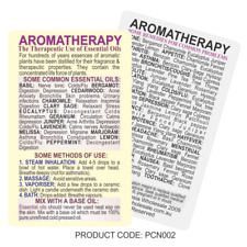 Aromatherapy Guide Chart Essential Oils Reference Pocket Size Laminated 2 Sides